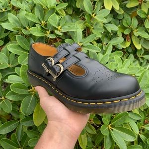 New dr martens 12916 Mary Jane leather shoes strap